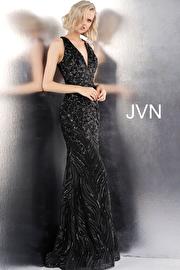 Black Embellished Open Back Sleeveless JVN66261