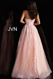 Blush Embroidered Strapless Prom Ballgown JVN66970
