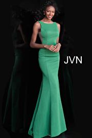 Jvn Blush High Neck Backless Fitted Prom Dress JVN67090