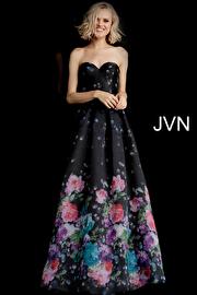 Jvn Black Multi Strapless Sweetheart Neckline Prom Dress JVN68111