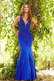 Jvn Royal Fitted Open Back Prom Dress JVN58011