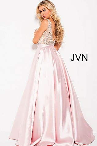 big light pink floor length prom gowns