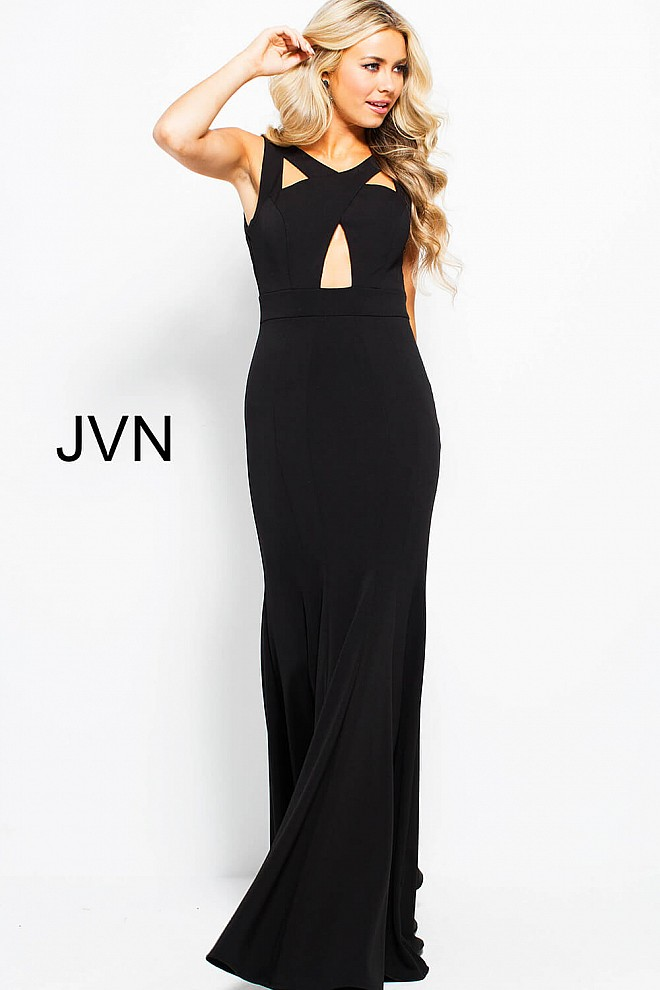 Black Long Fitted Prom Dresses