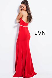 Pink Fitted Halter Neck Prom Dress JVN51669