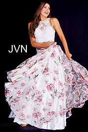 White/Multi Floral Two-Piece Dress JVN41771