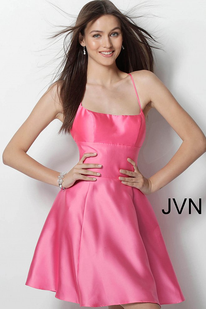 JVN63018 Pink Sexy Simple Short Dress