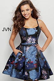 Multi Fit and Flare Pleated Skirt Cocktail Dress JVN63389