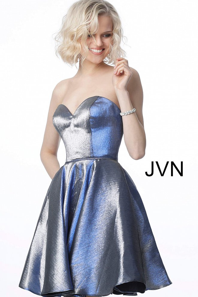 JVN3776 Royal Fit and Flare Sweetheart Neck Homecoming Dress