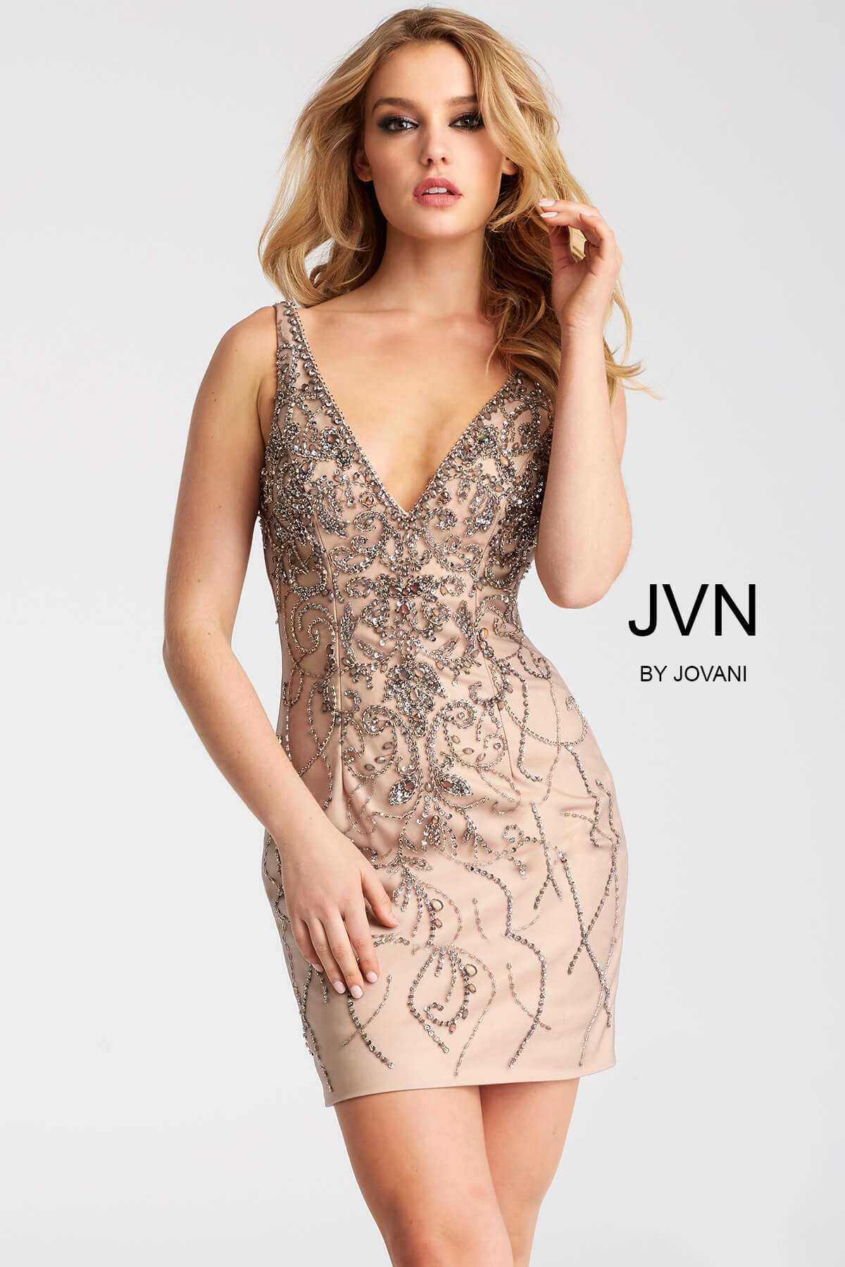Nude embellished dress Nude Photos 26