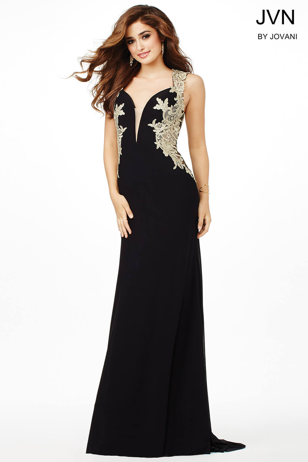 f31e35800b Jovani Black And Gold Gown - Data Dynamic AG