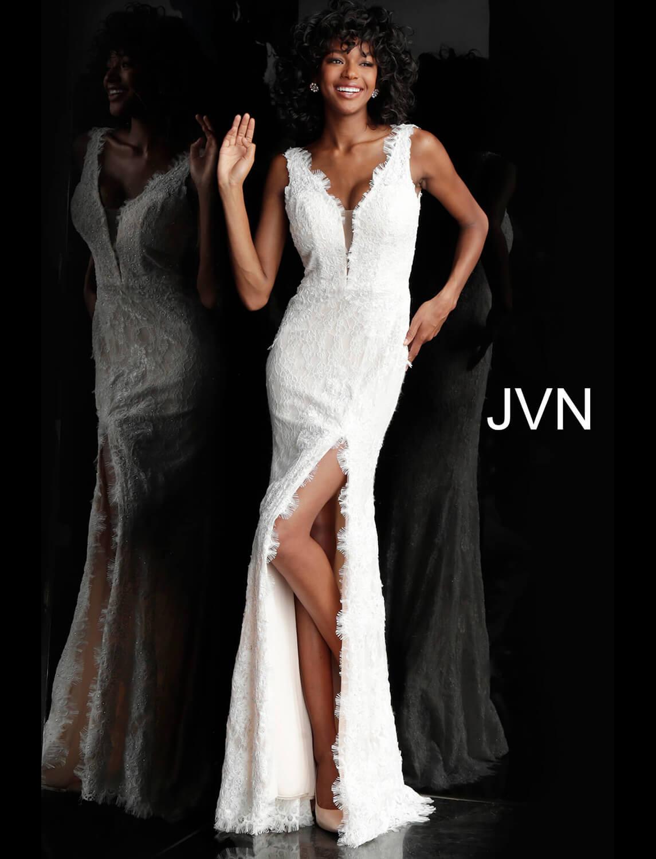 7bc1f84e3c9 Long V Neck Prom Dress With Lace Embellished Bodice - Data Dynamic AG