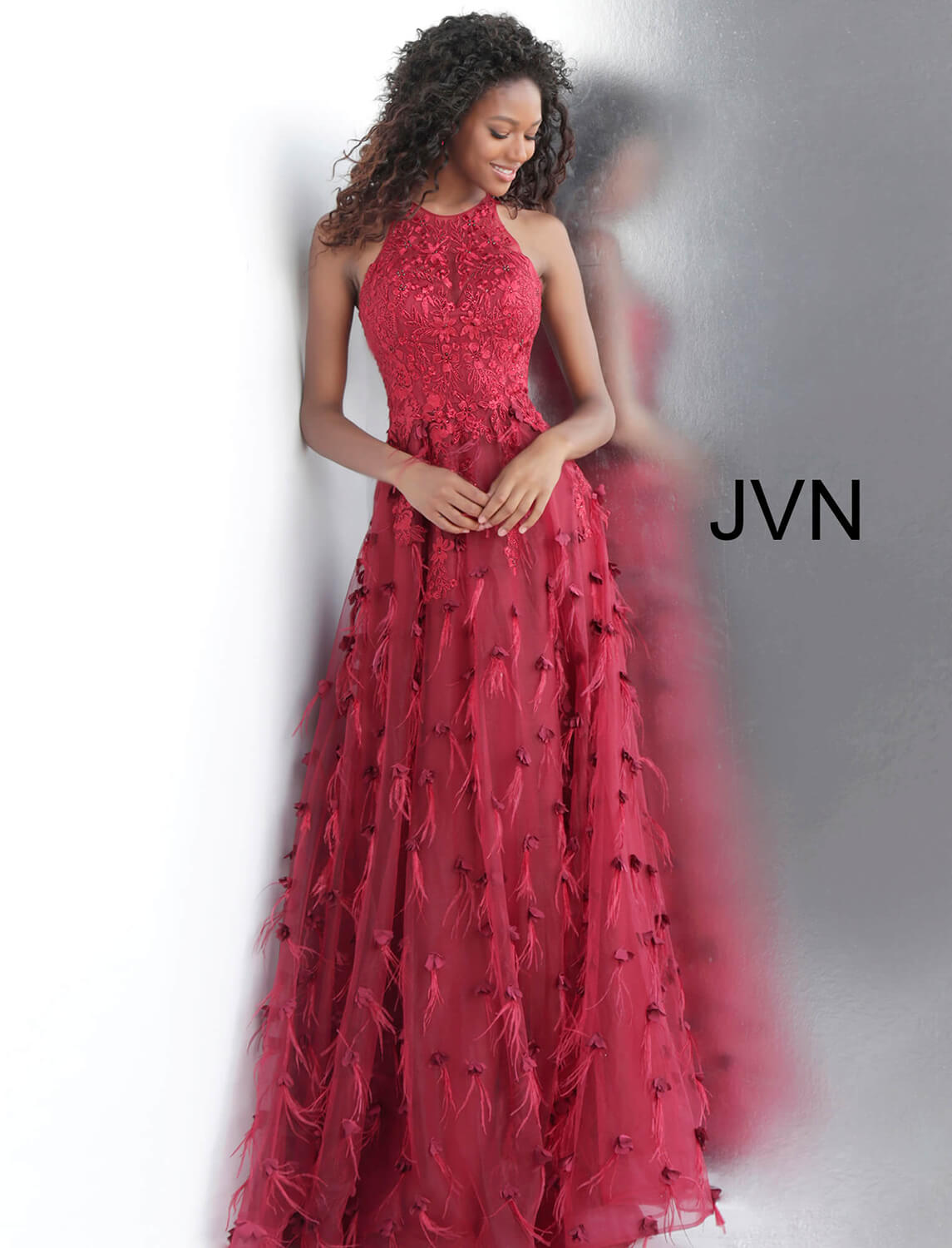 31276e27a92 Long Burgundy Red Prom Dress With Embroidered Bodice - Gomes Weine AG