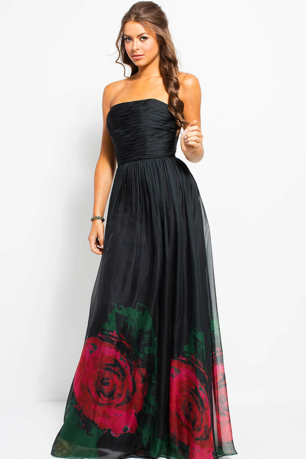 12cbe56a9d Plus Size Maxi Dresses - Long Sleeve, Floral, White And Black .