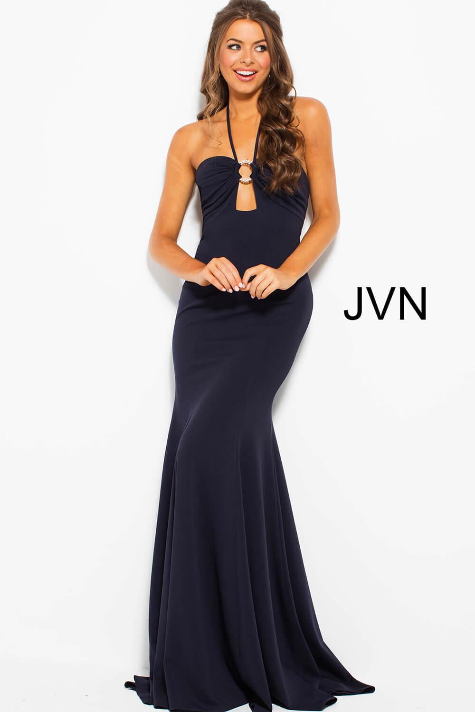 8936dc1344f7 Halter Neck Backless Prom Dress